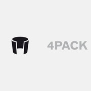 Logo 4PACK, Farbversion – infragrau, gute Gestaltung