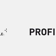 Logo PROFILEs, Schwarzversion – infragrau, gute Gestaltung