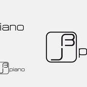 Logo jb piano, Schwarzversion, Skalierung – infragrau, gute Gestaltung