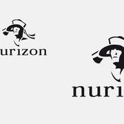 Logo Nurizon, Schwarzversion, Skalierung – infragrau, gute Gestaltung