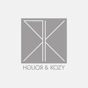 Logo ROUGH & KOZY, Grauversion – infragrau, gute Gestaltung