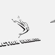 Logo Action Unlimited, Schwarzversion, Skalierung – infragrau, gute Gestaltung