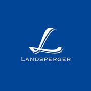 Logo Landsperger, Farbversion – infragrau, gute Gestaltung