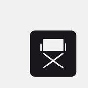 Logo Regiestuhl, Schwarzversion, Skalierung – infragrau, gute Gestaltung