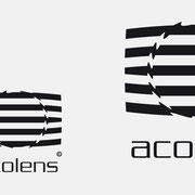 Logo Acolens, Schwarzversion, Skalierung – infragrau, gute Gestaltung