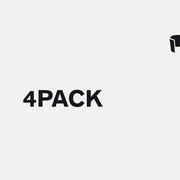 Logo 4PACK, Schwarzversion, Skalierung – infragrau, gute Gestaltung