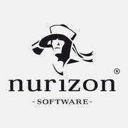 Logo Nurizon, Version mit Zusatz – infragrau, gute Gestaltung