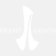 Logo Silent Lights I, Weißversion – infragrau, gute Gestaltung