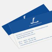 Logo Landsperger, Anwendung – infragrau, gute Gestaltung