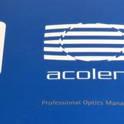 Logo Acolens, Anwendung – infragrau, gute Gestaltung