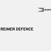 Logo REIMER DEFENCE, Schwarzversion, Skalierung – infragrau, gute Gestaltung