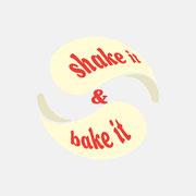 Produktlogo Shake it & Bake it, Farbversion – infragrau, gute Gestaltung