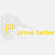 Logo prime factory, Farbversion – vormals für nullplus, Labor für Gestaltung