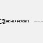 Logo REIMER DEFENCE, Schwarzversion mit Produktspezifikation – infragrau, gute Gestaltung
