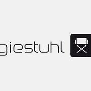 Logo Regiestuhl, Wort/Bildmarke mit URL – infragrau, gute Gestaltung