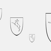 Logo Gemeinde Rechberghausen, Schwarzversion, Skalierung – infragrau, gute Gestaltung