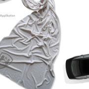 Logo VW CLASSIC, Anwendung – infragrau, gute Gestaltung für Vierke Fashion For Brands
