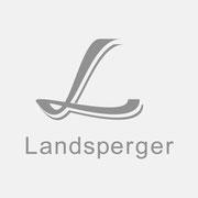Logo Landsperger, Grauversion – infragrau, gute Gestaltung