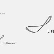 Logo Life Balance, Schwarzversion, Skalierung – infragrau, gute Gestaltung