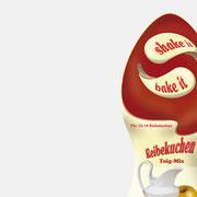 Produktlogo Shake it & Bake it, Anwendung – infragrau, gute Gestaltung