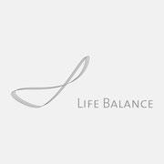 Logo Life Balance, Grauversion – infragrau, gute Gestaltung