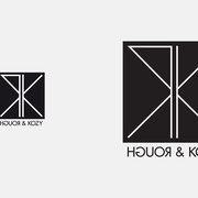 Logo ROUGH & KOZY, Schwarzversion, Skalierung – infragrau, gute Gestaltung