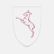 Logo Gemeinde Rechberghausen, Farbversion, Skalierung – infragrau, gute Gestaltung