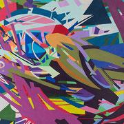 0809, 200x110cm, acryl on canvas, banck 2016
