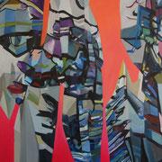 1446, 140x90cm, oil and acryl on canvas, banck 2014