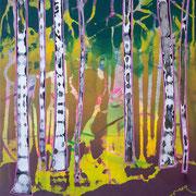 kleiner Wald 7, 35x40cm, acryl on canvas, Banck 2017