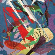 2054, 70x90cm, acryl on canvas, banck 2014