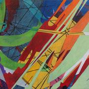 0586, 145x70cm, acryl on canvas, banck 2014