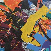 2323, 140x90cm, acryl on canvas, banck 2014