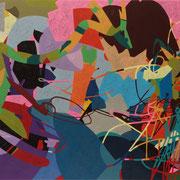 1063, 180x100cm, acryl on canvas, banck 2014 #