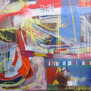 Fiedler, 280x135cm, oil+acryl on canvas, banck 2008 #
