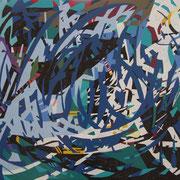 2252, 100x70cm, acryl on canvas, banck 2014 #