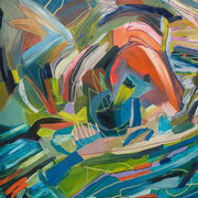 new born, 70x90cm, oil+acryl on canvas, banck 2011 #