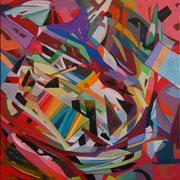 5852, 90x90cm, acryl on canvas, banck 2014