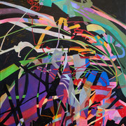 3340, 70x90cm, acryl on canvas, banck 2014