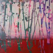 kleiner Wald 2, 35x40cm, acryl on canvas, Banck 2017