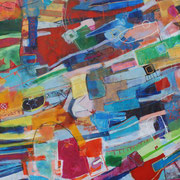 Universum, 550x270cm, oil+acryl on canvas, banck 2009