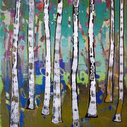 kleiner Wald 6, 35x40cm, acryl on canvas, Banck 2017 #