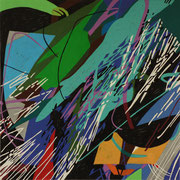 2500, 70x70cm, acryl on canvas, banck 2014