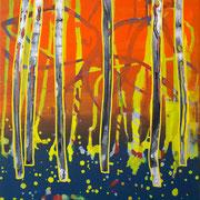kleiner Wald 4, 35x40cm, acryl on canvas, Banck 2017