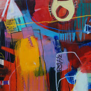 Balance, 160x80cm, oil+acryl on canvas, banck 2008 #