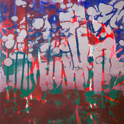 kleiner Wald 1, 35x40cm, acryl on canvas, Banck 2017