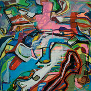 run away, 70x70cm, acryl on canvas, banck 2011