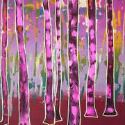 kleiner Wald 5, 35x40cm, acryl on canvas, Banck 2017