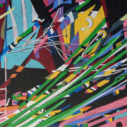 0422, 140x70cm, acryl on canvas, banck 2014