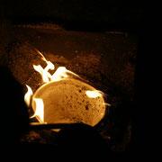 brennendes Sägemehl